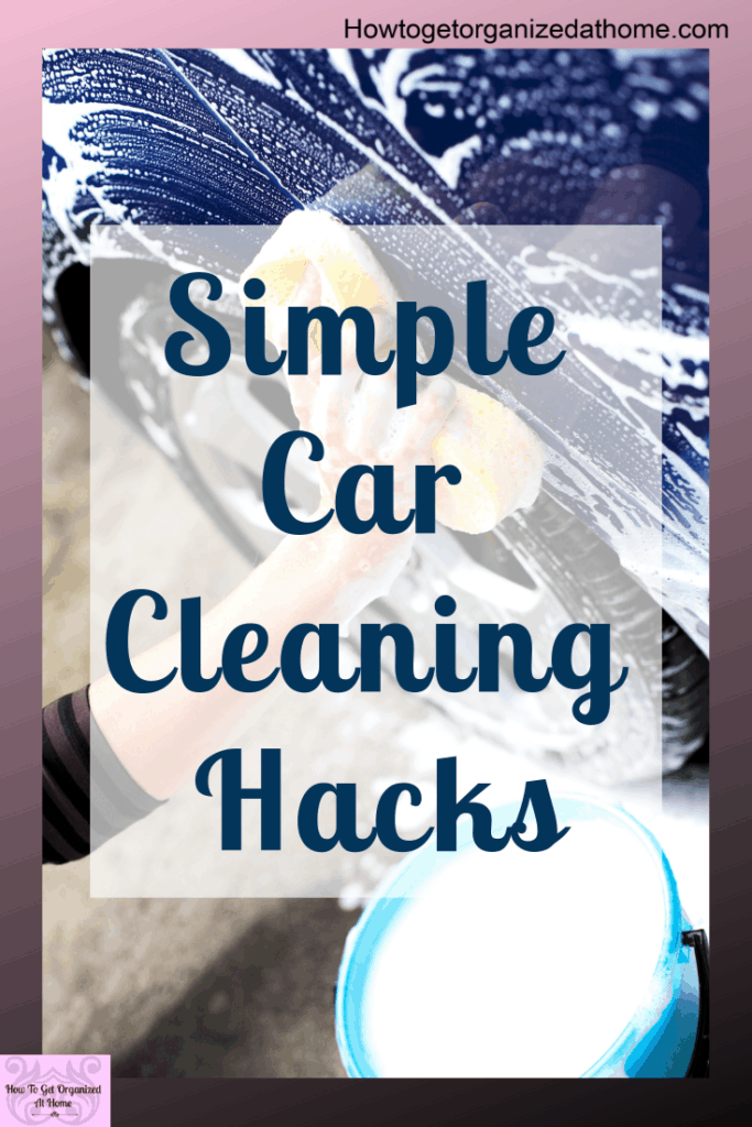 Use these car cleaning hacks to make your car look like new! Get rid of stickers without ruining your paintwork. What's great is you might have some of these products already at home! #carhacks #carcleaning #carcleaningtips