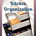 Are you wondering how to organize your kitchen? Don't despair I've got the perfect solution for you! Create simple solutions that will work for you and your kitchen space. Don't struggle to organize your kitchen with these tips. #kitchen #organize #kitchenorganizing
