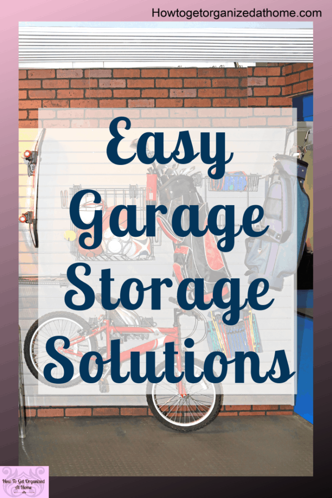 Looking for some easy garage storage solutions? Look no further, I've got some simple garage storage ideas that you will love. They are practical and fun too! #organize #garage #garageorganization