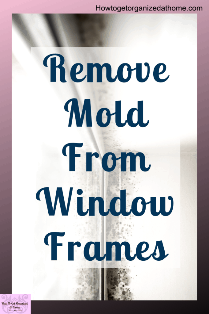 Simple tips and ideas on how to remove mold from your windows and frames. You don't have to have moldy windows with these tips and products you should use. #mold #mould #moldy