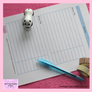 Simple Cleaning Printables