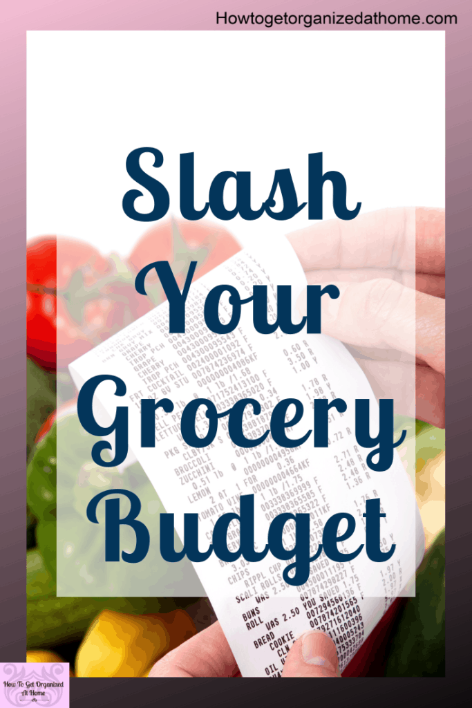 Save money on your grocery budget! Learn how to slash money off your grocery budget each month and not go without! Living within your budget is tough but with frugal living tips and ideas to cut your grocery budget will help. #grocerysavings #savingmoney #savingmoneyongroceries