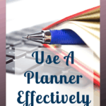 If you want to know how to use a planner effectively then you need to keep reading. I will show you tips and ideas on how to use a planner and how to make the planner work for you and boost your productivity. #planner #planning #plan