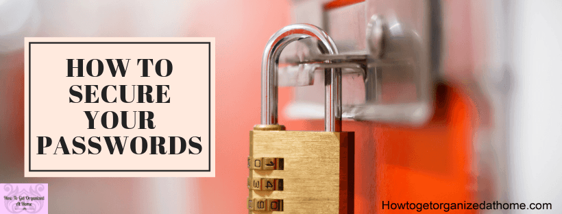 Do you know why you need a password manager? It's to store your passwords safely. It's not good enough to store your passwords in a notebook.