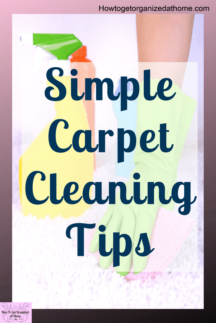 These 5 simple and easy carpet cleaning tips will make light work of any stain. Don't let your carpets embarrass you and get them deep down clean. #carpet #cleaning #carpetcleaning