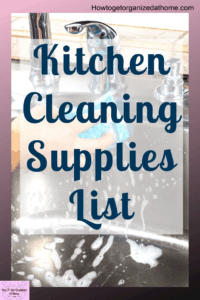 Is there too many items in the cleaning isle to choose from? Do you know which ones you should use and which ones you should avoid? Check out my go-to list of kitchen cleaning products. #cleaning #kitchen #kitchencleaning