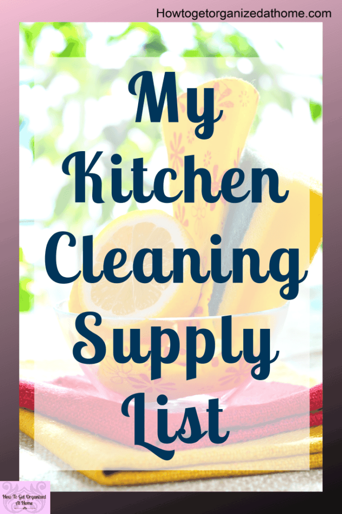 Are you unsure what products you need for cleaning your kitchen? Click and read the products I use to keep my kitchen clean the easy way. #cleaning #kitchen #kitchencleaning