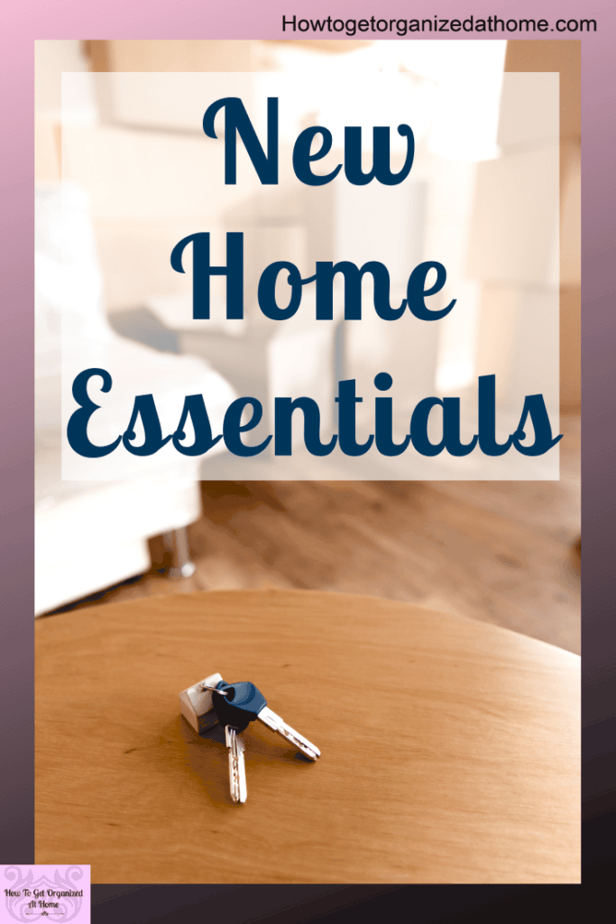 Moving to a new home is stressful and exciting at the same time, but how do you know what you will need on that first day? Check out my list and see the 17 items that I think are essential. #newhome #moving