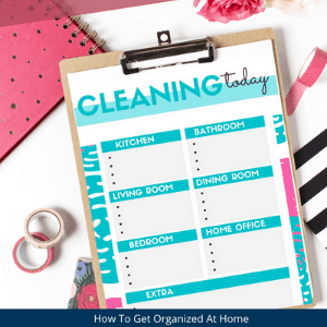 cleaning today printable. Free cleaning printable to get your cleaning started.