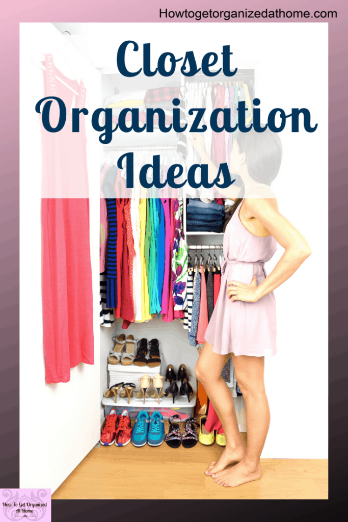 Creating an organized closet doesn't have to be difficult, these tips and ideas will help you create bedroom storage solutions that will work for you. #organize #closet #closetorganization