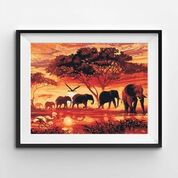 elephant paint by numbers picture