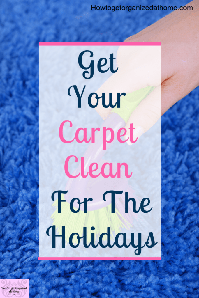 Does your carpet smell musty and you can't afford to replace it? Learn how to get it clean and smelling great before the guests start arriving for the holidays.  Get your carpet deep cleaned and smelling great with these tips and ideas you will love. #carpetcleaning #sp #cleaning