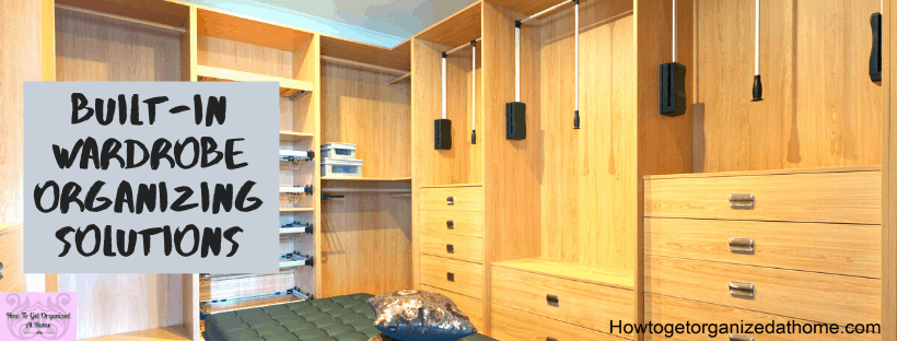 Organizing your built-in wardrobe is a great way to tackle all your clothes and finally get your closet organized.