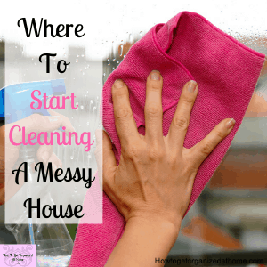 It's difficult to clean a messy home take the time to tidy your home daily to help when you need to clean.