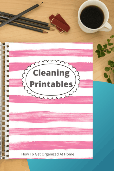 Cleaning printable pack designed to help you organize your cleaning schedule at home.