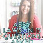 A unique chance to read an interview I did with Abby Lawson creator of Impactful Habits, Organized Home course. #abbylawson #impactfulhabits #organizedhome