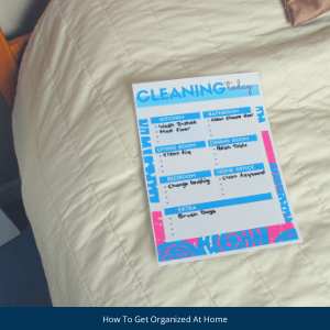 Cleaning Today printable, easy to use and great for daily cleaning tasks