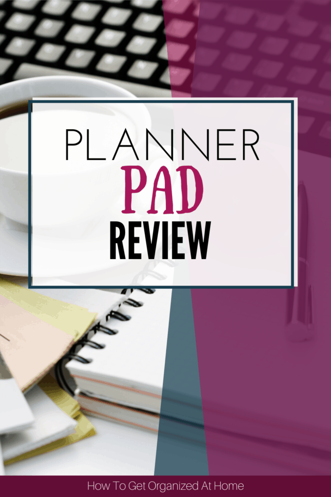 If you need help with your planner organization you need a Planner Pad. It's an amazing planner that helps you organize your week in a simple way but one that works. #plannerpad #planner #organizer