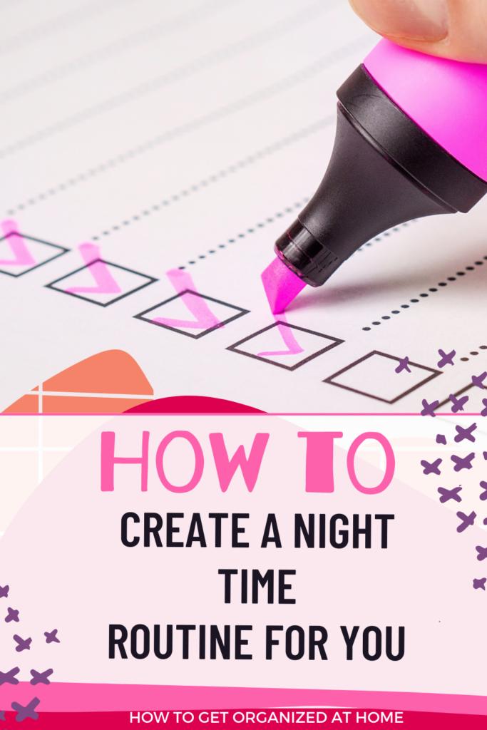 night time routine ideas